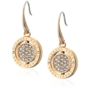 New Authentic MK gold tone drop earrings
